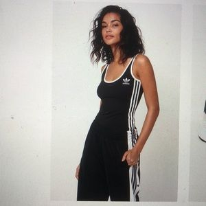 adidas Tops - adidas Adicolor white   black 3-stripes bodysuit 60171dc94